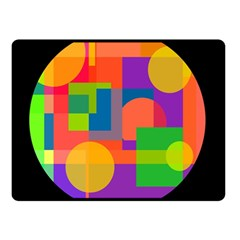 Colorful circle  Double Sided Fleece Blanket (Small)
