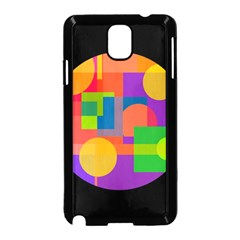 Colorful circle  Samsung Galaxy Note 3 Neo Hardshell Case (Black)