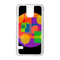 Colorful circle  Samsung Galaxy S5 Case (White)