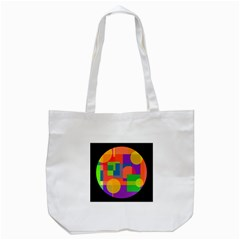 Colorful circle  Tote Bag (White)