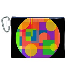 Colorful circle  Canvas Cosmetic Bag (XL)