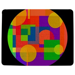 Colorful circle  Jigsaw Puzzle Photo Stand (Rectangular)