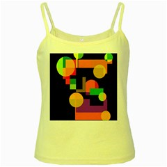 Colorful abstraction Yellow Spaghetti Tank