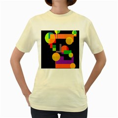 Colorful abstraction Women s Yellow T-Shirt