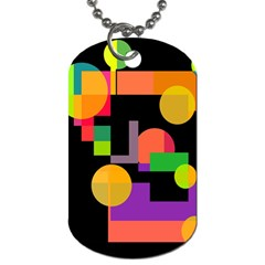 Colorful abstraction Dog Tag (One Side)