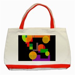 Colorful abstraction Classic Tote Bag (Red)