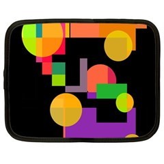 Colorful abstraction Netbook Case (Large)