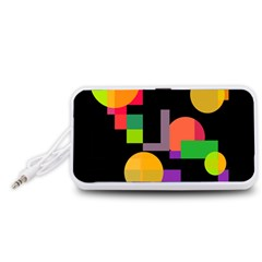 Colorful abstraction Portable Speaker (White)