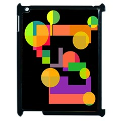 Colorful abstraction Apple iPad 2 Case (Black)