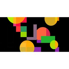 Colorful abstraction YOU ARE INVITED 3D Greeting Card (8x4)