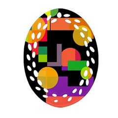 Colorful abstraction Ornament (Oval Filigree)