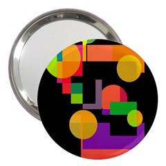Colorful abstraction 3  Handbag Mirrors