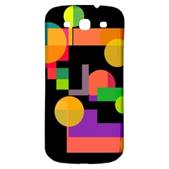 Colorful abstraction Samsung Galaxy S3 S III Classic Hardshell Back Case