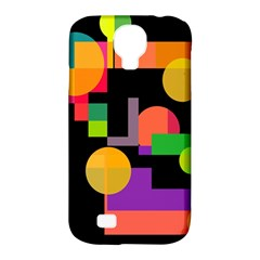 Colorful abstraction Samsung Galaxy S4 Classic Hardshell Case (PC+Silicone)