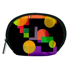 Colorful abstraction Accessory Pouches (Medium)