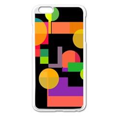 Colorful abstraction Apple iPhone 6 Plus/6S Plus Enamel White Case
