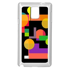 Colorful abstraction Samsung Galaxy Note 4 Case (White)