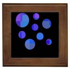 Blue circles  Framed Tiles