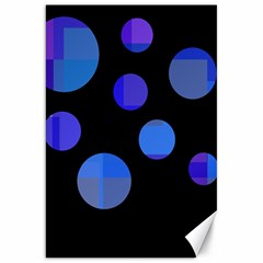 Blue circles  Canvas 20  x 30