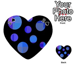Blue circles  Playing Cards 54 (Heart)