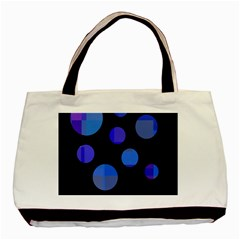 Blue circles  Basic Tote Bag (Two Sides)