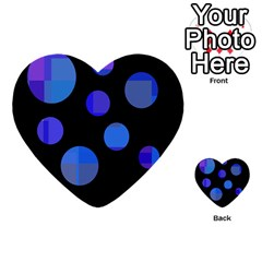 Blue circles  Multi-purpose Cards (Heart)