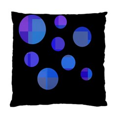 Blue circles  Standard Cushion Case (One Side)