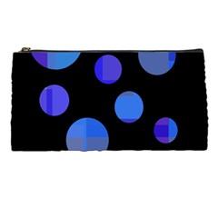 Blue circles  Pencil Cases