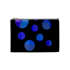 Blue circles  Cosmetic Bag (Medium)