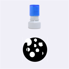 Blue circles  Rubber Round Stamps (Small)