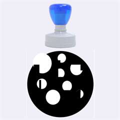 Blue Circles  Rubber Round Stamps (large)
