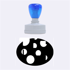 Blue circles  Rubber Oval Stamps