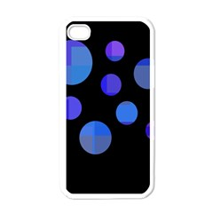 Blue circles  Apple iPhone 4 Case (White)