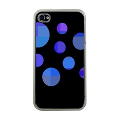 Blue circles  Apple iPhone 4 Case (Clear)