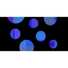 Blue circles  YOU ARE INVITED 3D Greeting Card (8x4)