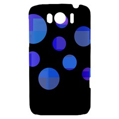 Blue circles  HTC Sensation XL Hardshell Case