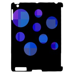 Blue circles  Apple iPad 2 Hardshell Case (Compatible with Smart Cover)