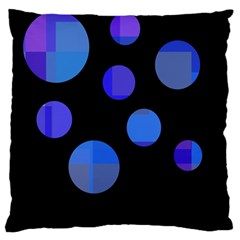 Blue circles  Large Cushion Case (Two Sides)