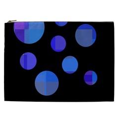 Blue circles  Cosmetic Bag (XXL)