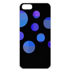 Blue circles  Apple iPhone 5 Seamless Case (White)