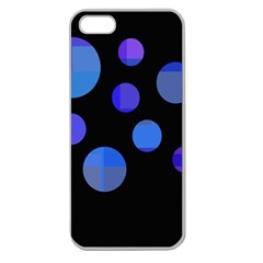 Blue circles  Apple Seamless iPhone 5 Case (Clear)