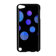 Blue circles  Apple iPod Touch 5 Case (Black)