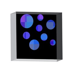 Blue circles  4 x 4  Acrylic Photo Blocks