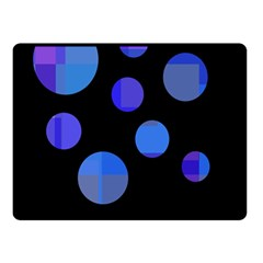 Blue circles  Double Sided Fleece Blanket (Small)