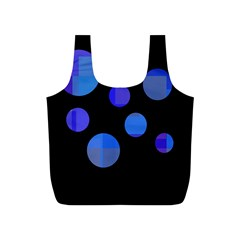 Blue circles  Full Print Recycle Bags (S)