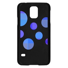 Blue circles  Samsung Galaxy S5 Case (Black)