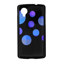 Blue circles  Nexus 5 Case (Black)