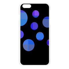 Blue circles  Apple Seamless iPhone 6 Plus/6S Plus Case (Transparent)