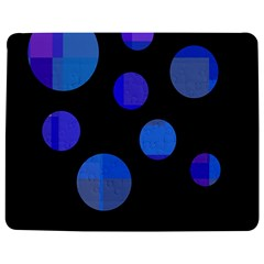 Blue circles  Jigsaw Puzzle Photo Stand (Rectangular)
