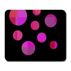 Pink abstraction Large Mousepads